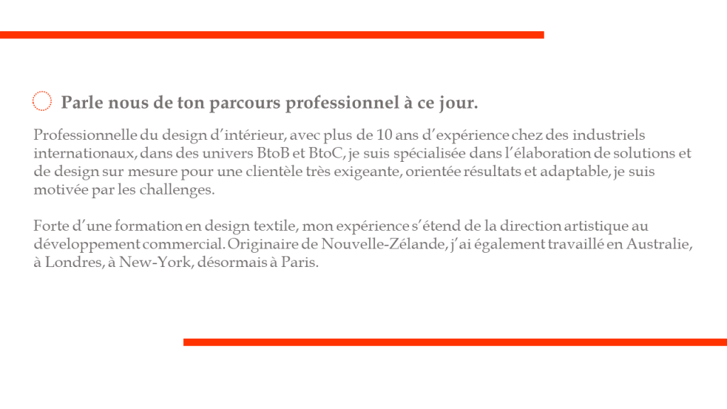 Professionnelle du design d'intérieur