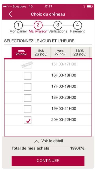 houra courses livraison domicile facile rapide pas cher heure choix Paris