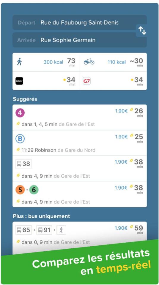 Rer métro bus ratp sncf itinéraire trouver chemin Paris