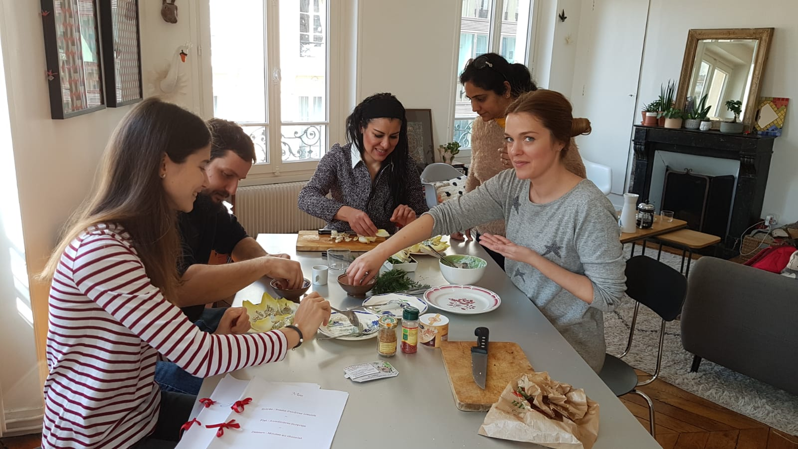 Cooking class learn French expatriates expat spouses New language with experimentes teacher