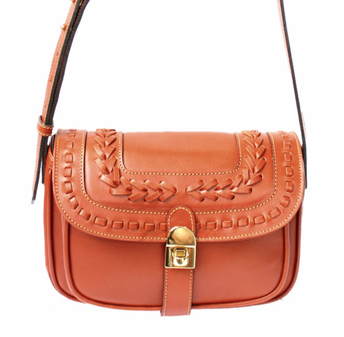 leather bag leather goods women orange fashion absolutely french