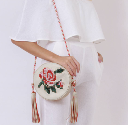 bag brasil flower leather goods woman absolutely french-expatriate woman in France