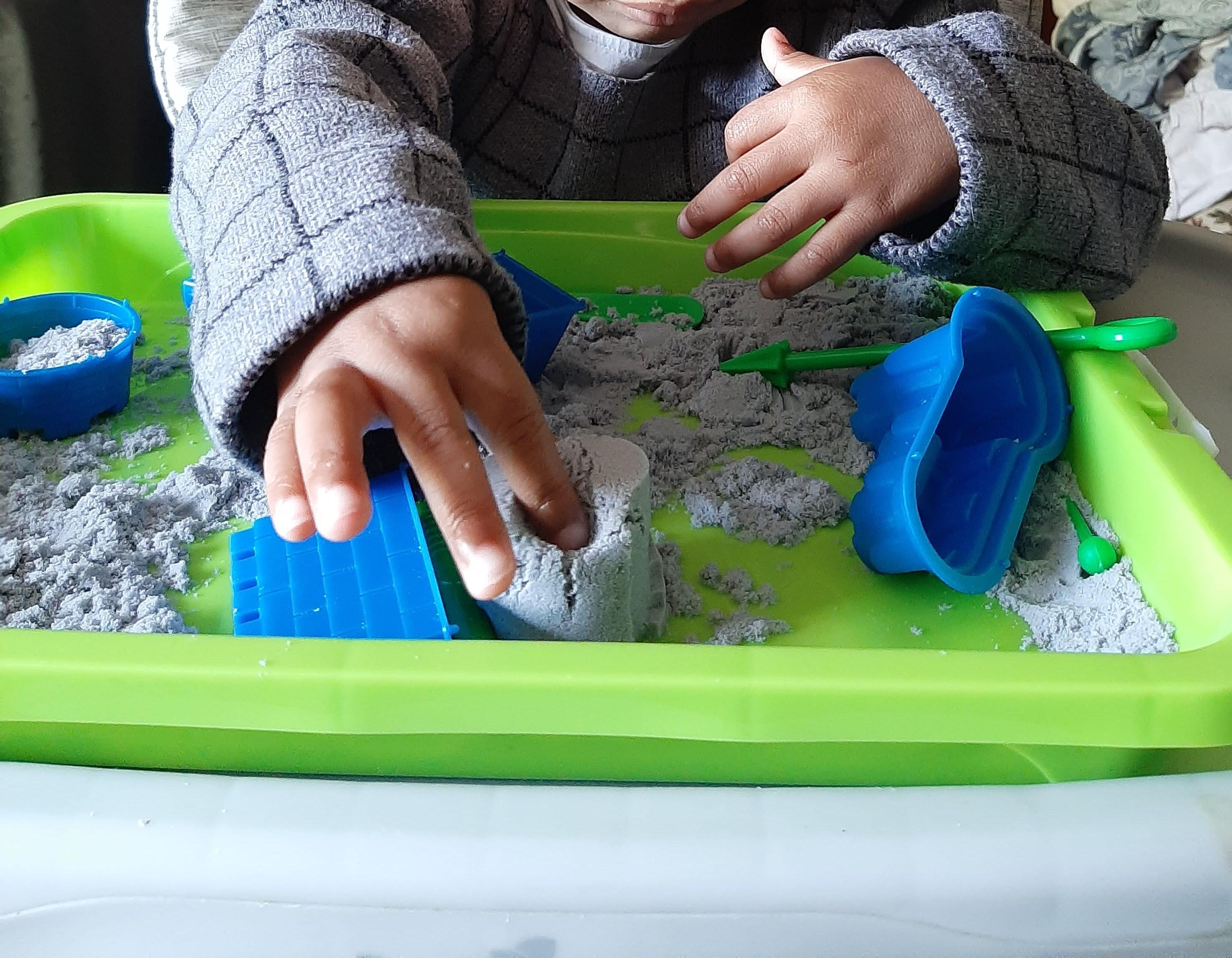 sable magique, activités enfants, confinement