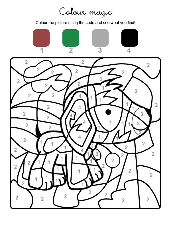 coloriage magique, activités enfants