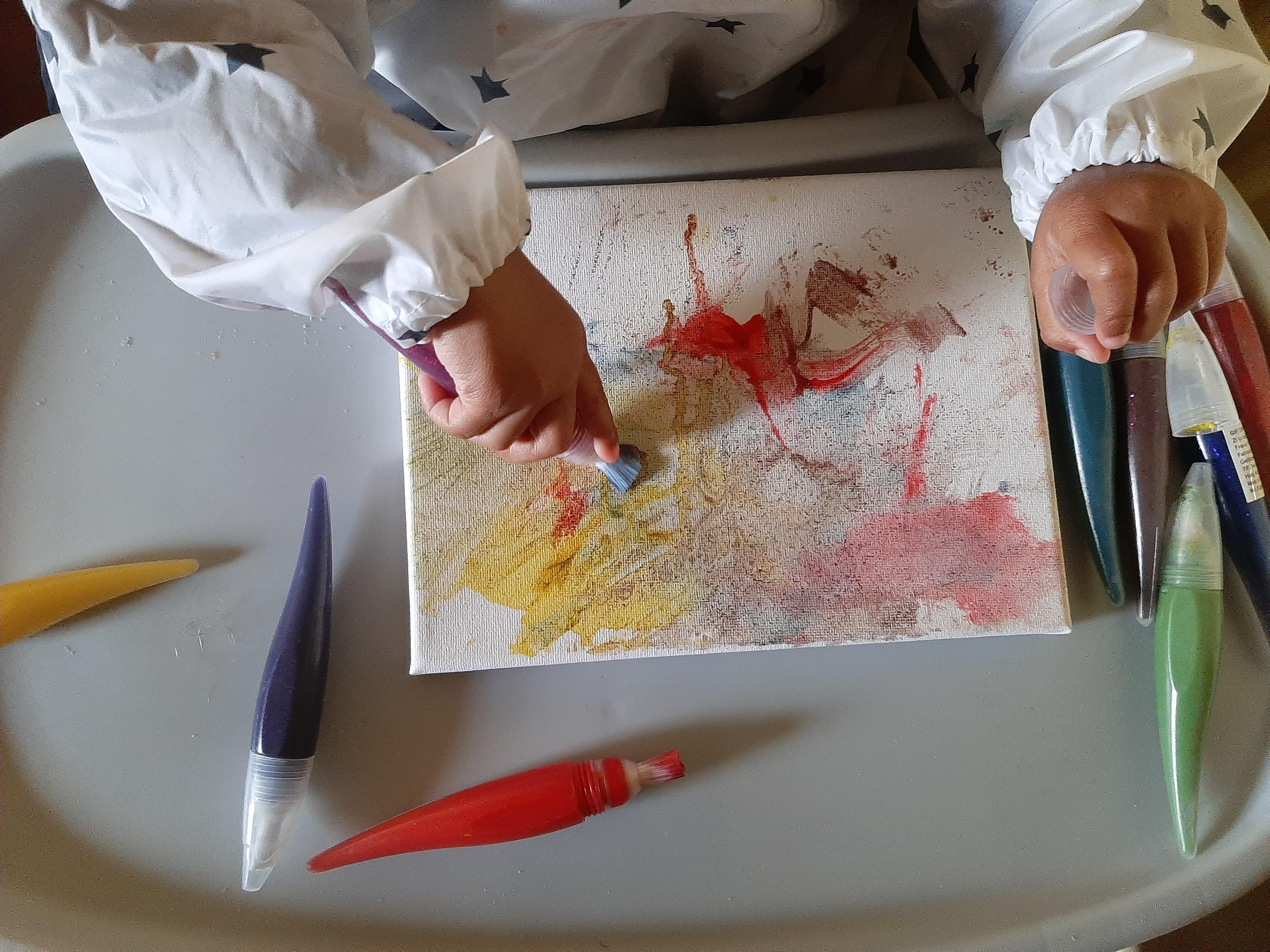 confinement peinture activités enfants