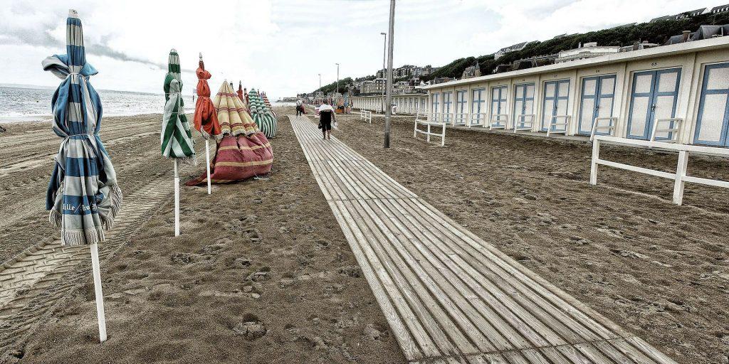 Plage Deauville, week-end romantique